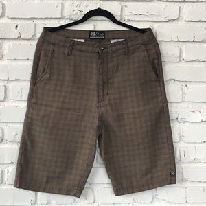 KR3W Shorts - KREW Long skater shorts with a neutral pattern